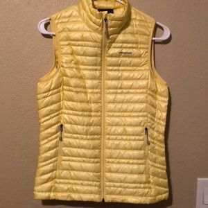 NWT Patagonia ultralight yellow down vest